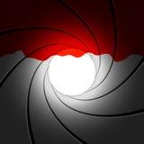 Tube de canon avec le sang. Vecteur. Image libre de droits
