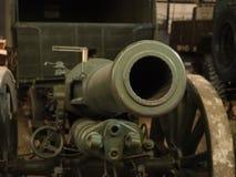 Tube de canon de champ Image libre de droits