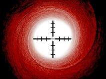 Tube de canon de James Bond avec des vues de réticule Images stock
