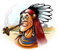 Tube de fumage de chef indien Illustration Stock