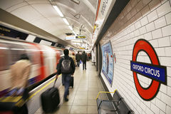 Tube de Londres, cirque d'Oxford Images stock