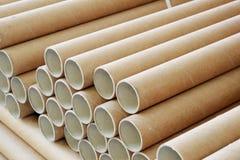 Tube de papier industriel Photo stock