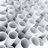 Tube en plastique blanc Photos stock