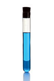 Tube à essai avec le liquide bleu Photos stock