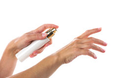 Tube  in  hands Royalty Free Stock Photos