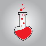 Tube heart  icon Royalty Free Stock Photos