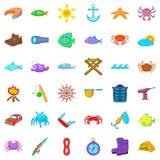 Tube icons set, cartoon style. Tube icons set. Cartoon style of 36 tube vector icons for web isolated on white background Stock Image