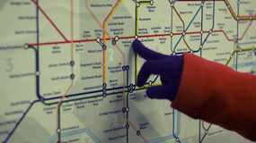 Tube map Royalty Free Stock Image