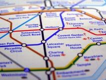 Tube map of London underground Royalty Free Stock Photos