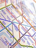 Tube map of London underground Stock Image