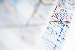 The tube map Royalty Free Stock Photo