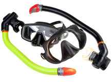 Tube and mask for diving (snorkel) Stock Images