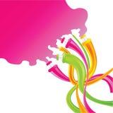 Tube mignon de couleur Photographie stock libre de droits