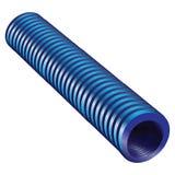 Tube ondulé bleu illustration libre de droits
