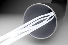 Tube optique de fibre Photo libre de droits
