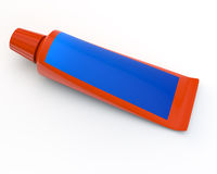 Tube orange Photographie stock