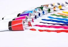 Tube of paint Royalty Free Stock Images