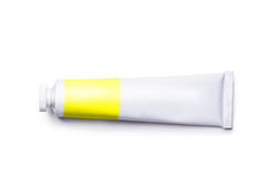 Tube with a paint. On a white background Royalty Free Stock Image