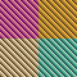 Tube Pattern. Seamless dimensional tube pattern in four colorways. 6 inch repeat Royalty Free Stock Images