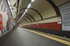 Tube platform in London Stock Image