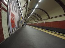 Tube platform in London Royalty Free Stock Images