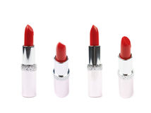 Tube of red lipstick isolated Stock Image