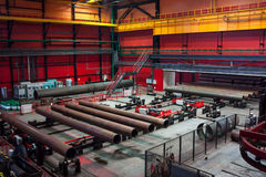 Tube Rolling plant. Modern Tube Rolling plant. White metallurgy royalty free stock photography
