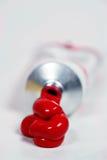 Tube rouge de peinture Image libre de droits