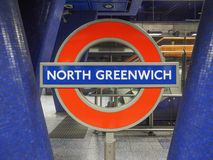 Tube sign in London Royalty Free Stock Images