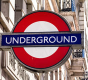 Tube sign  in London Stock Photography