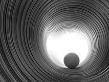 Tube spiralé avec la sphère Photos libres de droits