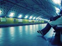 Tube station royalty free stock image