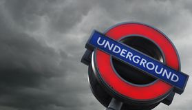 Tube storm gathers Stock Image