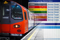 Tube Strikes. Composite image to outline the tube strikes in London Royalty Free Stock Photography