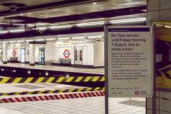Tube Strikes Royalty Free Stock Images