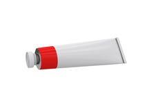 Tube sur un fond blanc, rendu 3D Photographie stock