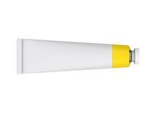 Tube sur un fond blanc, rendu 3D Photo stock