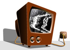Tube television TV Noise Stock Images