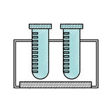 Tube test  icon Royalty Free Stock Images