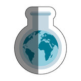 Tube test world planet earth icon. Illustration design Stock Photos