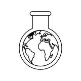 Tube test world planet earth icon. Illustration design Royalty Free Stock Image