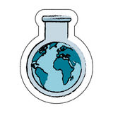 Tube test world planet earth icon. Illustration design Royalty Free Stock Photos