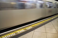 Tube Train. London Tube train Royalty Free Stock Photo