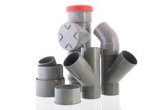 Tube utilisé de PVC photographie stock