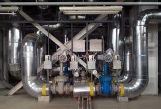 Tube valves Royalty Free Stock Image