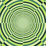 Tube vert-foncé abstrait, lumière à l'extrémité du tunnel Photographie stock