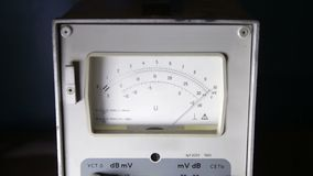 The  tube voltmeter dial retro electric appliance stock footage