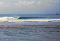 Tube wave. Tube glass wave. ocean landscape. Surfing spot. Bali. Imposibles Stock Photo