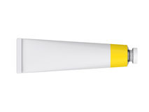 Tube on a white background, 3D rendering Stock Photo