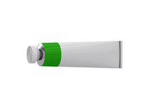 Tube on a white background, 3D rendering Royalty Free Stock Photo